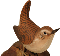 wooden bird carvings